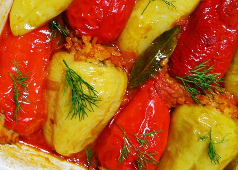 Перец, запечёный в духовке